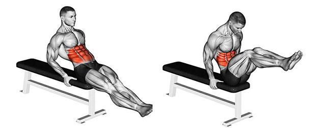 Подтягивание коленей к груди сидя