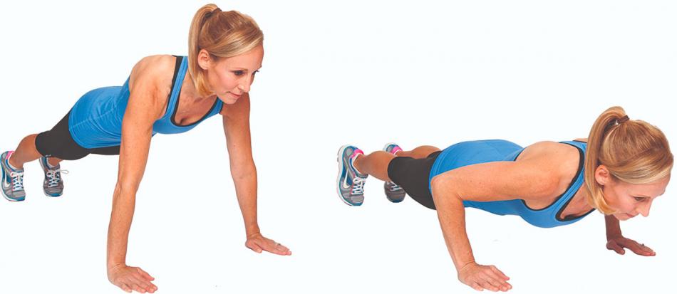 Упражнение Отжимания для девушек